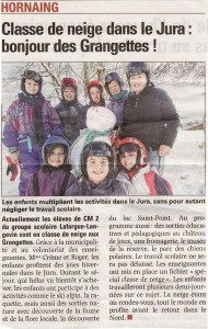 Classe de neige : Dans la Voix du Nord dans 2013 grangettes-emilie-2013-ter-190x300